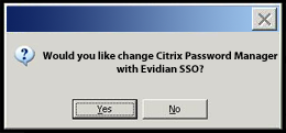 Sostituisci Citrix Password Manager con Evidian Enterprise SSO