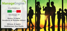ManageEngine Conference Strategic IT 2016