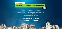 ManageEngine Global Active Directory Seminar 2016