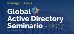 ManageEngine Global Active Directory Seminario - 2017