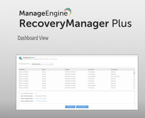 ManageEngine RecoveryManager Plus