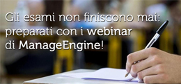 Preparati con i webinar di ManageEngine